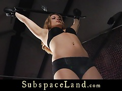 Kinky slave tamed with a bdsm lesson of terror tubes