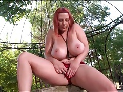 Redhead vanessa hott has dildo sex outdoors tubes