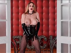 Cathy heaven is stunning in kinky black latex tubes