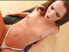Slut in white gstring fucked doggystyle tubes