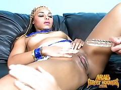 Curvy arab slut moans for dildo sex tubes