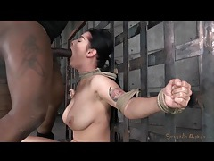 Curvy katrina jade tied up and face fucked tubes