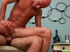 Shaved guy on top for slow and sexy anal fuck tubes