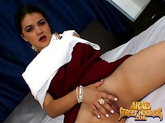 Fully dressed arab girl does a sexy striptease tubes