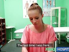 Fakehospital hot brunette patient returns craving the doctors big cock tubes