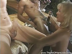 Double handjob time for amateur babe tubes