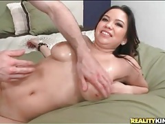 Big natural tits oiled up and fucked lustily tubes