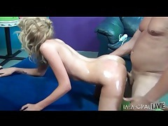 Oiled up ass looks great in doggystyle fuck video tubes