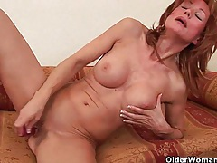 Redheaded grannies in lust fuck a dildo tubes
