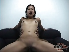 Little titty latina on top rinding his dick hard tubes