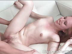 Young redhead beauty rides a dick lustily tubes