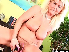 Grandma refuses to shave her hairy pussy tubes