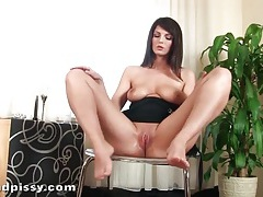Hottie with big natural tits has dildo sex tubes