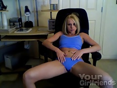 Fit young blonde stars in sexy webcam porn tubes