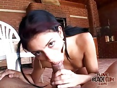 Latina slut sucks black cock with great passion tubes