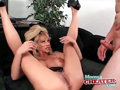 Milf fuck porn with a cumshot on her sexy tits tubes
