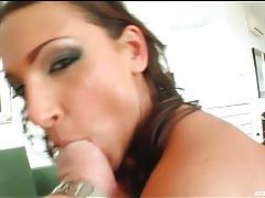 Slut in neon bikini shows off her tight ass tubes