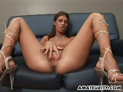 Amateur girlfriend gives head with facial shot tubes