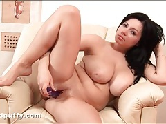 Voluptuous terry wild pisses on a chair tubes