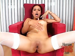 Cute latina redhead has a big ass to model tubes