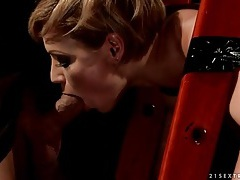 Bound beauty bent over and face fucked tubes