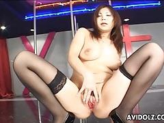 Asian babe with big tits masturbates tubes