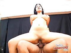 Shaved latina cunt fucked by a hard dick tubes