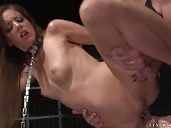 Hardcore sex with a slave slut on a leash tubes