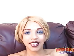 Cute black girl masturbates for a midget tubes