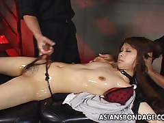 Luscious japanese chick in a kinky bdsm video tubes