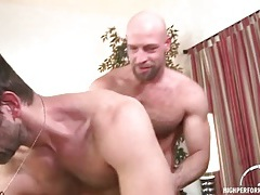 Bear top with sexy body fucks his lover doggystyle tubes