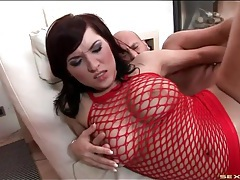 Curvy girl anal fuck with her on top tubes