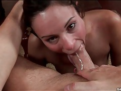 Sloppy wet blowjob from amber rayne tubes