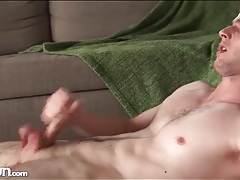Furious solo masturbation with a hot cumshot tubes