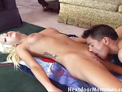 Blonde mom banged by latin guy tubes