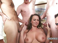 Curvy coed chloe reece ryder is fucking five guys tubes