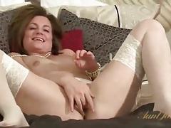 Vivacious milf sofia matthews in white lingerie tubes