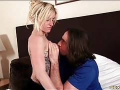 Cute young blonde in a fun foreplay video tubes