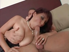 Hot milf in tight corset gives a great titjob tubes