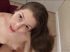 Lelu love choked as she sits on dick in pov tubes