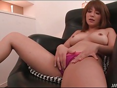 Slim and sexy japanese girl vibrated on her clit tubes