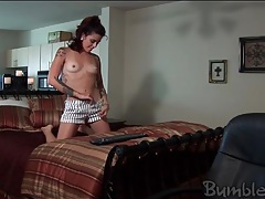 Sexy tattoos on a cute brunette webcam girl tubes