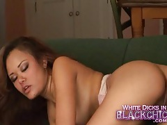 Slut fucked all over the couch and moaning tubes