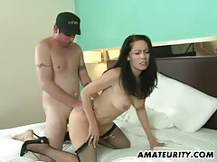 Hot amateur milf sucks and fucks in a hotel room tubes