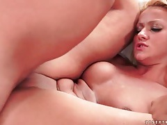 Cute blonde banged in bald pussy by old dick tubes
