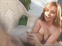 Natural redhead strokes a dick tubes
