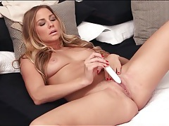 Courtney dillon unbuttons her blouse and masturbates tubes