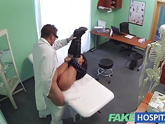 Fake hospital sexual treatment turns gorgeous busty patient moans of pain into pleasure tubes