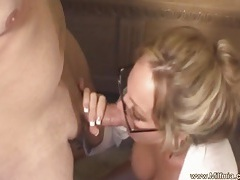 Bad milf secretary cannot fire tubes