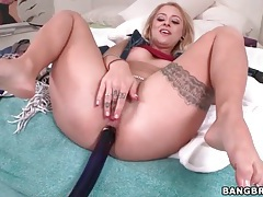Toys in the asshole of cute blonde girl tubes